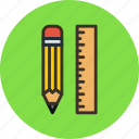 applications, pencil, rule, tools icon