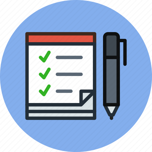 list, notes, scrapbook, tasks, todo icon
