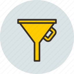 filter, funnel, liquid, oil, tool icon