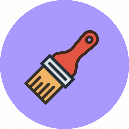 brush, oil, paint, tool icon