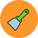 knife, putty, scraper, tool icon