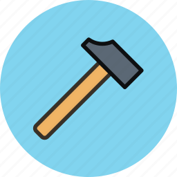 blacksmith, hammer, joinery, tool icon