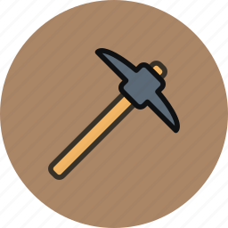 dig, miner, pick, tool icon