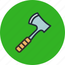 axe, chop, hatchet, tool icon