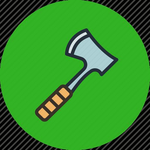 axe, chop, hatchet, tool icon