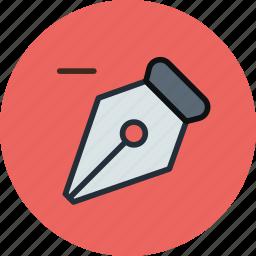 anchor, classic, ink, pen, remove, retro, tool icon