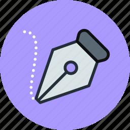 classic, freeform, ink, pen, retro, tool icon