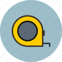 measuring, tape, tape measure, tool icon