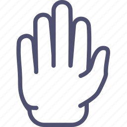 blocking, five, gesture, hand, high, palm, restriction, sign, stop icon