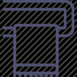 bathroom, furniture, heating, interior, rail, towel icon