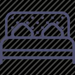bed, double, furniture, interior, sleep icon