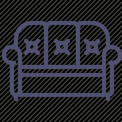 couch, furniture, interior, lounge, sofa icon