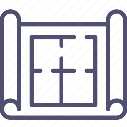 apartment, architectural, building, construction, drafting, house, map, plan, scheme icon