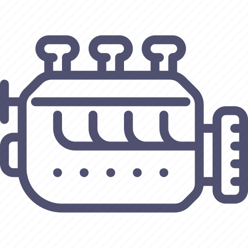 car, engine, gasoline, industrial, mechanic icon