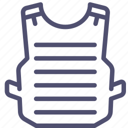 armor, arms, bulletproof, military, vest icon
