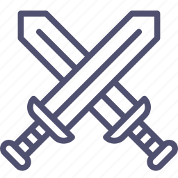 attack, battle, military, swords icon