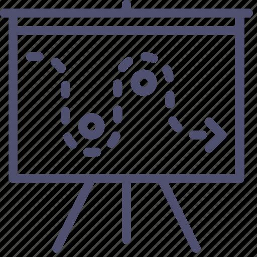 board, deck, management, plan, presentation, promo, strategy icon