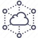 backup, cloud, connections, data, network, storage icon