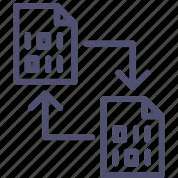 backup, change, copy, data, digital, document, file, swap, sync, transfer icon