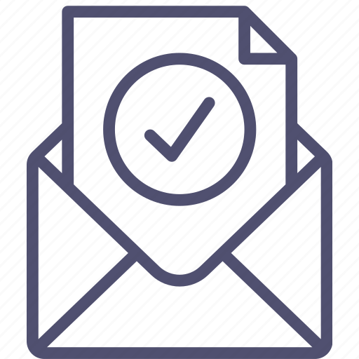 check, email, envelope, final, mail, message, ok, step, verification icon