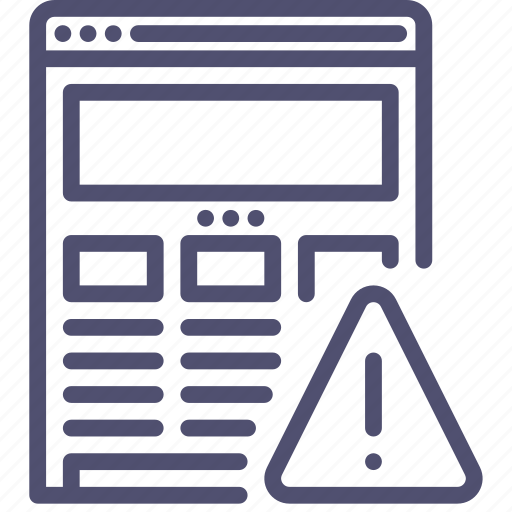 alert, browser, error, internet, responsive, warning, web, website, wireframe icon