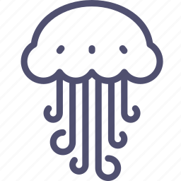 animal, jellyfish, marine, medusa, nature, nautical, ocean, sea, water icon