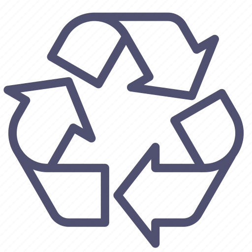 logo, recycle, recycling, sign icon