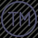 logo, tm, trademark icon