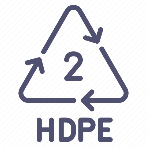 hdpe, pehd, polyethylene, recyclable icon