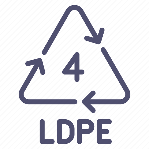 ldpe, peld, polyethylene, recyclable icon