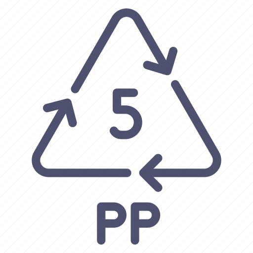 plastic, polypropylene, pp, recyclable icon