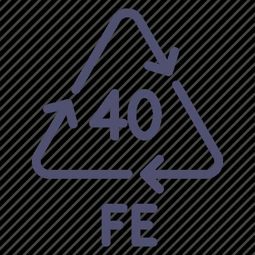 fe, ferrum, recyclable, steel icon
