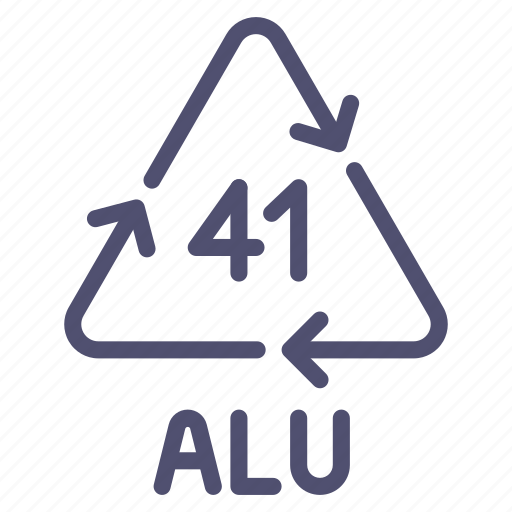 alu, aluminum, metal, recyclable icon