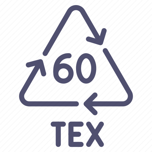 cotton, recyclable, sign, tex icon