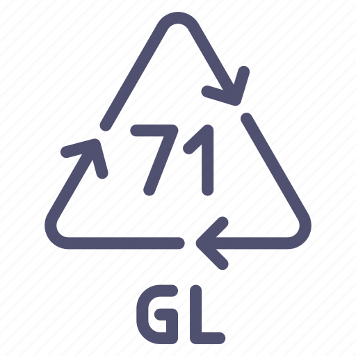 gl, glass, green, recyclable icon