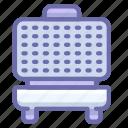 iron, kitchen, waffle icon