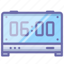 alarm clock, digital, time icon