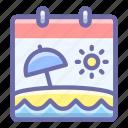 calendar, leisure, vacation icon