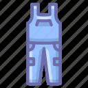 bib, overalls, pants icon