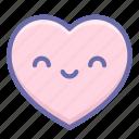 heart, love, smile