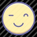 emoji, smile, wink icon