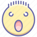 emoji, face, shock, surprised icon