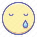 crying, face, sad icon