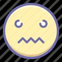 confused, emoji, worried icon