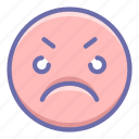 angry, emoji, wicked icon