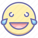 emoji, laugh, smile icon