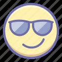 cool, emoji, smile icon