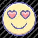 emoji, heart, inlove icon