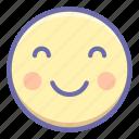 blush, emoji, smile icon