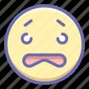 emoji, worried, worry